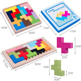 Wooden Tetris Jigsaw Puzzle Toy For Kids