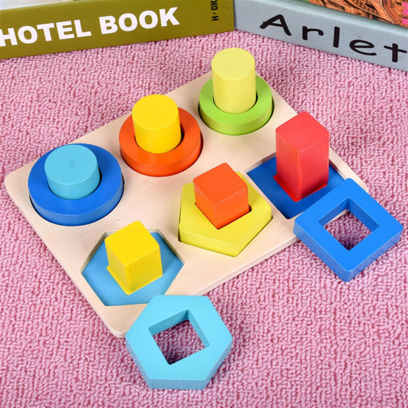 Wooden Geometric Shape Matching Board Toy