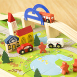 40PCS Wooden Urban Traffic Scene Building Blocks