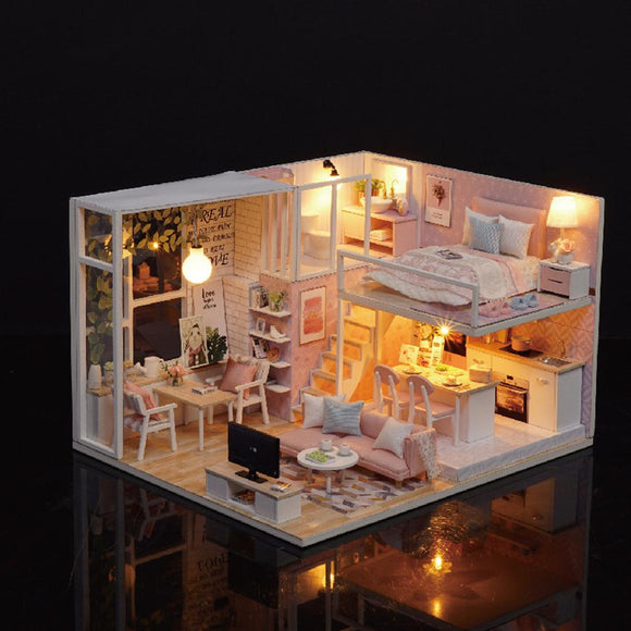 DIY Loft House Model Toy Set