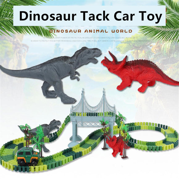 Electric Dinosaur Track Car Toy