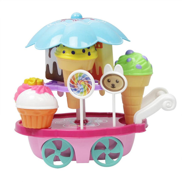 Ice Cream Cart Play Food Toy Set