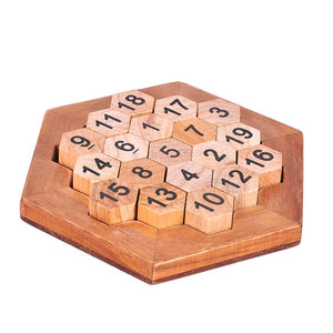 Wooden Kids Puzzle Number Honeycomb Toy Set