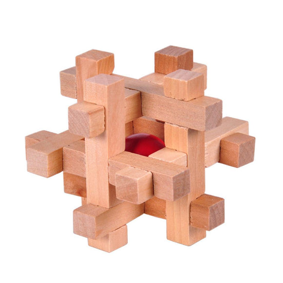 Wooden Take Red Ball Classic Puzzle Toy