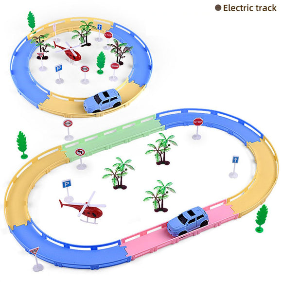 DIY Electric Track Model Toy Car