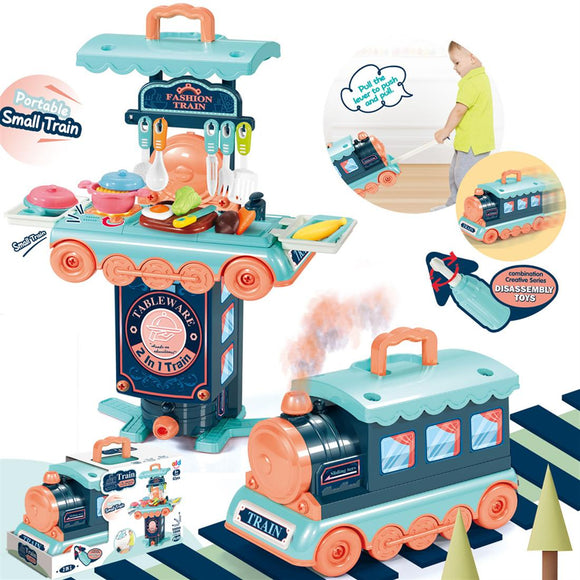 Tableware Train Pretend Play Toy Set