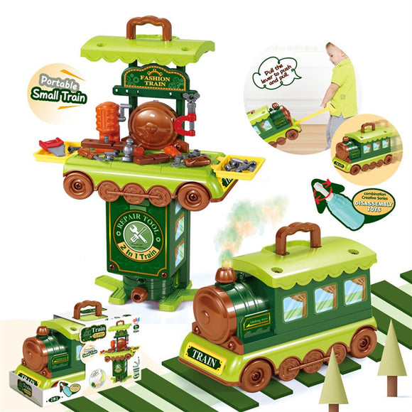 Play Tool Train Toy Set