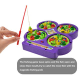 Electronic Rotating Magnetic Fishing Game Toy