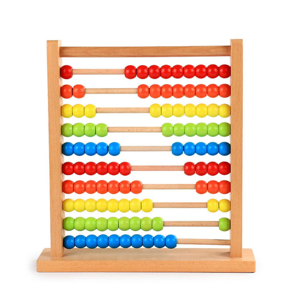 Wooden Rainbow Abacus Numbers Educational Toy