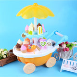 Candy Ice Cream Trolley Shop Pretend Play Toy Set