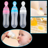 Baby Silicone Squeeze Feeding Bottle
