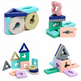 Wooden Geometry Shape Matching Educational Toy