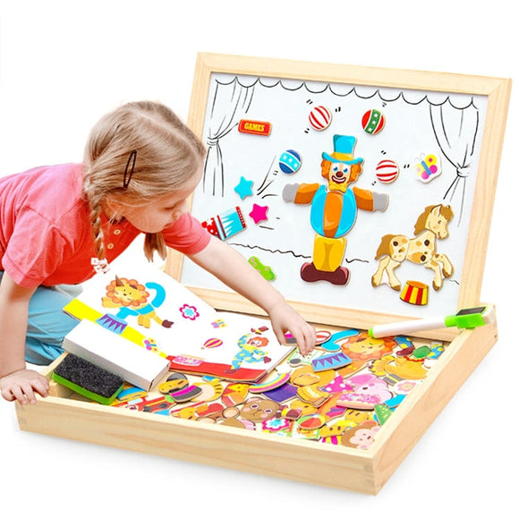 Wooden Magnetic 3D Puzzle Education Toys