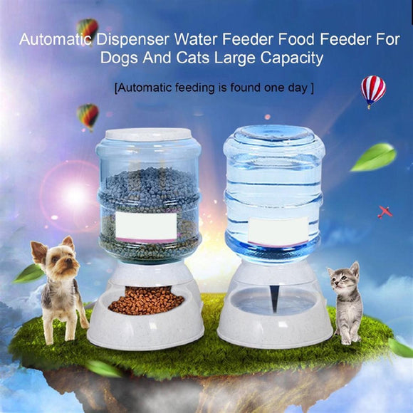 Pet Automatic Dispenser Water Food Bowl Feeder