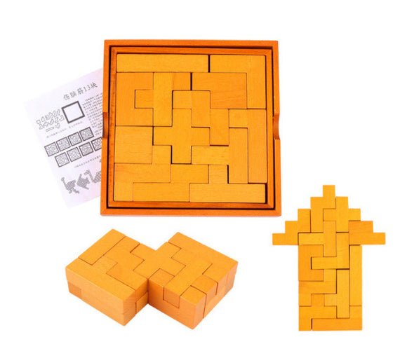 Wooden Kongming Lock Puzzle Toy For Kids