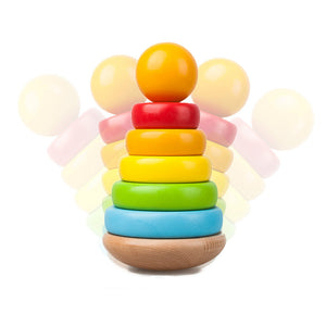 Wooden Stacking Ring Educational Toy