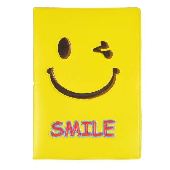 Smiling Face Pattern Travel Passport Cover