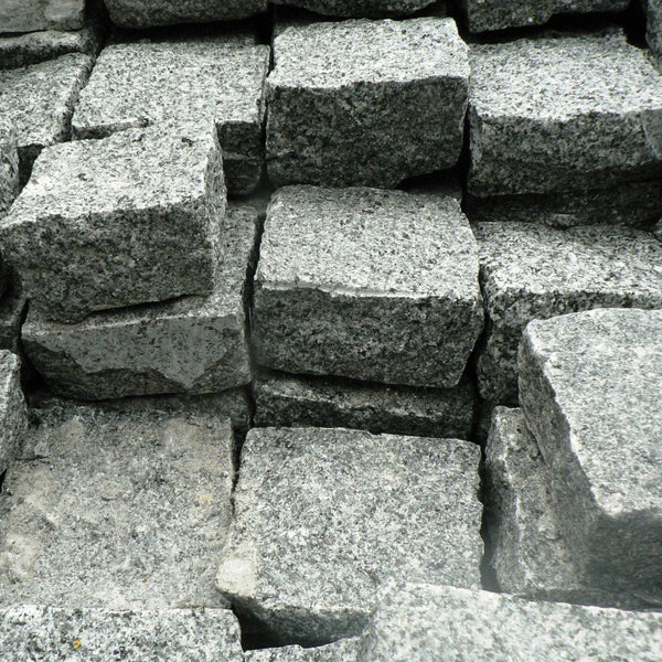 Mid Grey Granite Setts Available From Chertsey Surrey