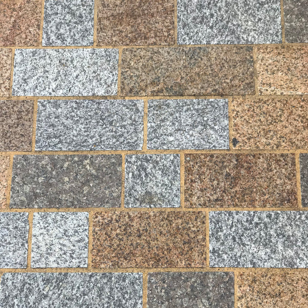 Warm Sunset Granite Block Paving