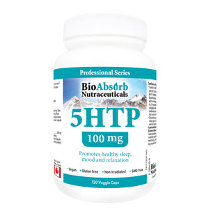 5-HTP Supplement, 100 mg, 40-Day Supply, Natural Non-GMO Serotonin Booster, 120 Vegan Capsules