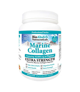 Marine Collagen Powder, Extra Strength w/Peptan (Type 1 Hydrolyzed Collagen Peptides), 425g, 42-day Supply