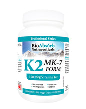 Load image into Gallery viewer, Vitamin K2 MK-7 Form Supplement. 100 mcg.