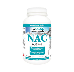 NAC Supplement 600 mg N-Acetyl-L-Cysteine, 200 Veggie Capsules. Promotes Glutathione Synthesis.