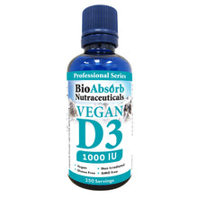 Load image into Gallery viewer, Vegan Vitamin D3 Drops 1000 IU - 250-Day Supply. Liquid Vitamin D Sourced from Non-GMO Algae. No Soy or Gluten