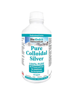 Colloidal Silver Liquid. Highly Bioavailable Pure Solution.10 ppm. No Additives.