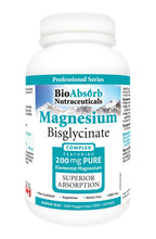 Load image into Gallery viewer, Magnesium Bisglycinate/Glycinate Supplement. 200mg of Chelated Elemental Magnesium. 260 Vegan Capsules (260-Day Supply)