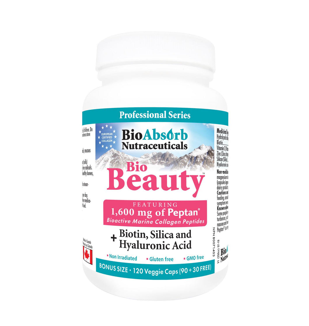 Marine Collagen Supplement with Hyaluronic Acid, Biotin, Silica, Zinc and Vitamin C. Powerful Blend for Skin, Hair, and Nails.