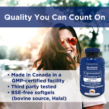 Load image into Gallery viewer, Liposomal Vitamin C 1000mg. 70-Day Supply, 210 Softgel Capsules. Corn-Free, Soy-Free, Non GMO.