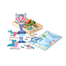 Load image into Gallery viewer, Melissa and Doug Mermaid Magnetic Dressup
