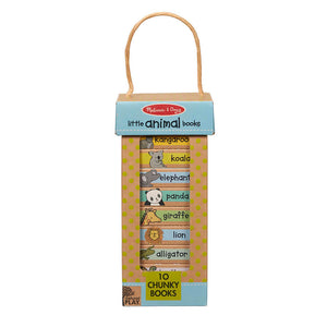 Melissa and Doug Little Animal Books Learning Book Tower