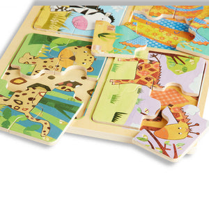 Melissa and Doug Animals Patterns Wooden Puzzle