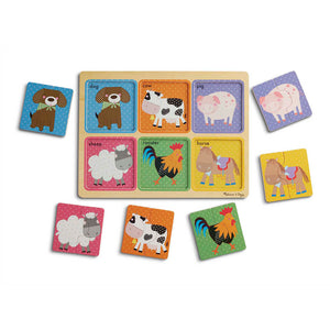Melissa and Doug Farm Friends Wooden Puzzle