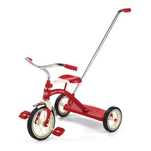 Load image into Gallery viewer, Classic Red 10 inch Trike with Push Handle