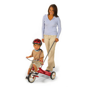 Classic Red 10 inch Trike with Push Handle