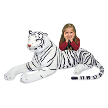 Load image into Gallery viewer, Melissa and Doug White Tiger Plush