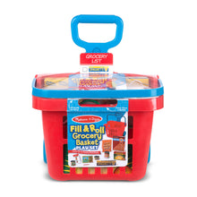 Load image into Gallery viewer, Melissa and Doug Rolling Grocery Basket MOQ2