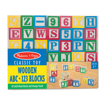 Load image into Gallery viewer, Melissa and Doug Wooden ABC & 123 Blocks