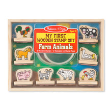 Load image into Gallery viewer, Melissa and Doug My First Farm Animals Wooden Stamps