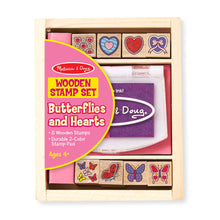 Load image into Gallery viewer, Melissa and Doug Butterfly & Heart Stamp Set