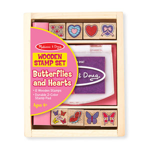 Melissa and Doug Butterfly & Heart Stamp Set