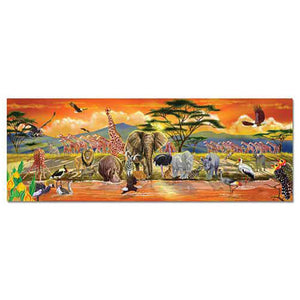 Melissa and Doug Safari Floor Puzzle 100pc