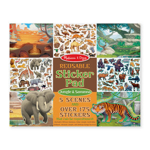 Melissa and Doug Reusable Sticker Pad - Jungle & Savanna MOQ3