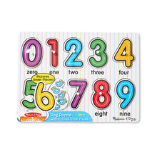 Load image into Gallery viewer, Melissa and Doug See Inside Numbers Peg Puzzle