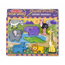 Load image into Gallery viewer, Melissa and Doug Safari Chunky Puzzle