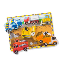 Load image into Gallery viewer, Melissa and Doug Construction Chunky Puzzle