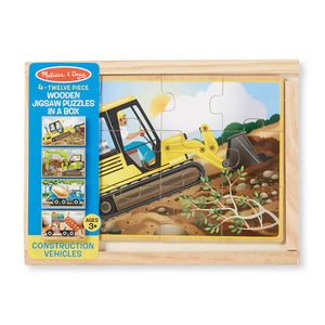 Melissa and Doug Construction Puzzles in a Box